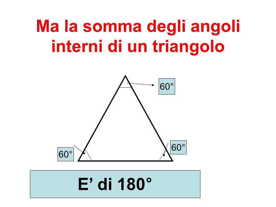 Ma la somma degli angoli interni di un triangolo