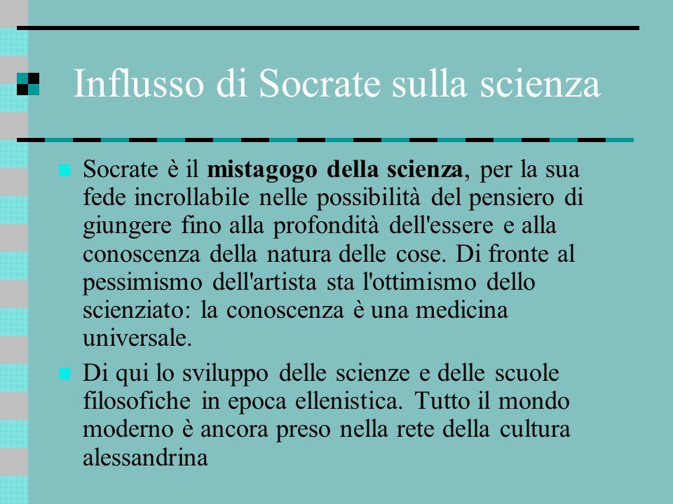 Influsso di Socrate sulla scienza