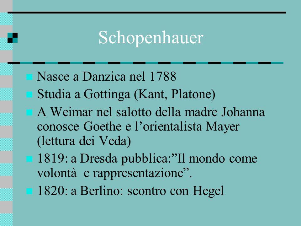 Schopenhauer Nasce a Danzica nel 1788