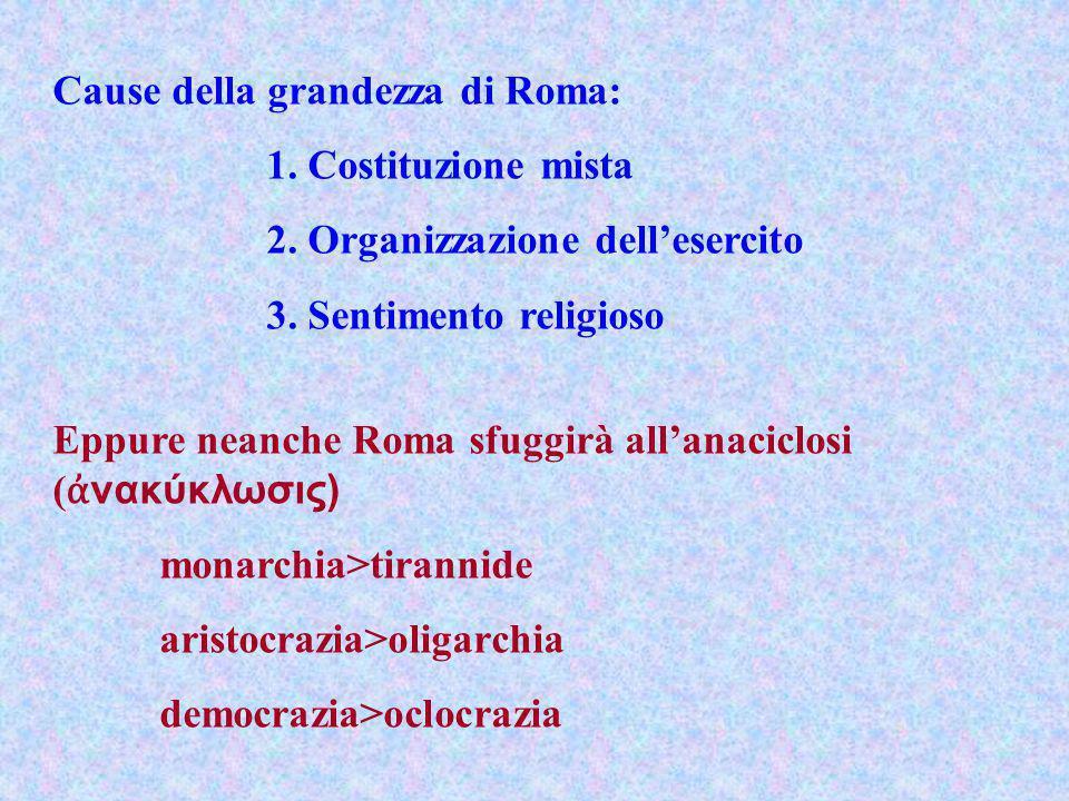 Cause della grandezza di Roma: