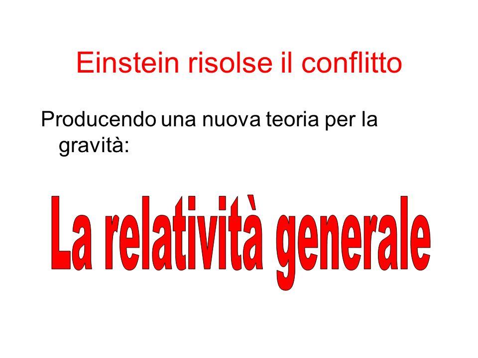 Einstein risolse il conflitto