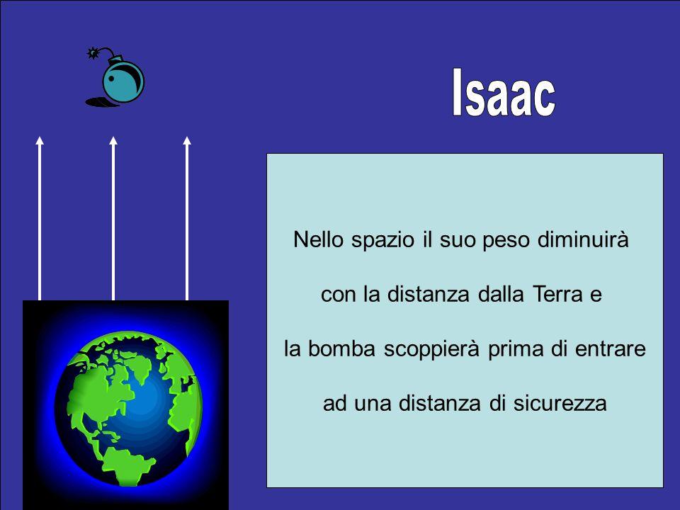 Isaac Nello spazio il suo peso diminuirà con la distanza dalla Terra e