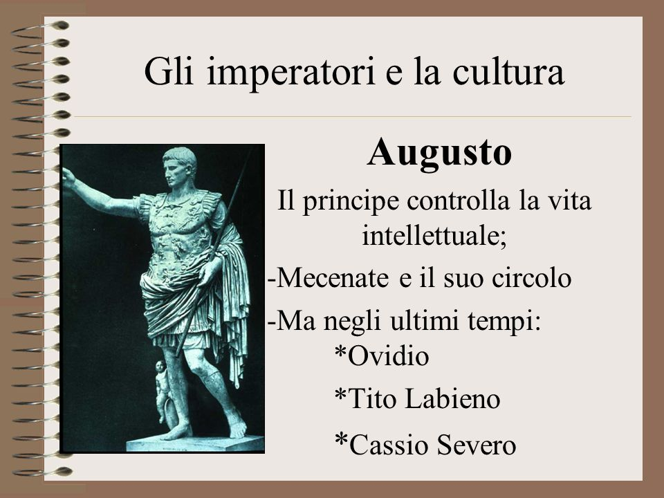 Gli imperatori e la cultura