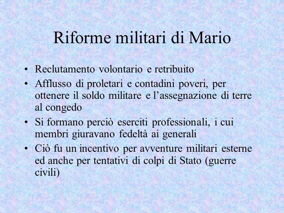 Riforme militari di Mario