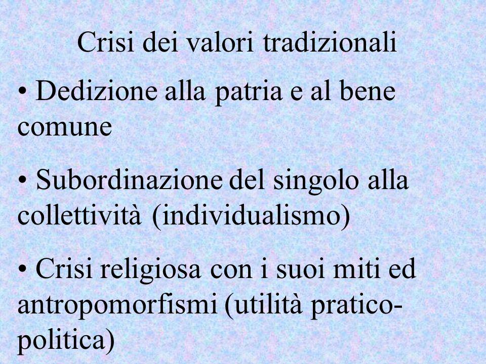 Crisi dei valori tradizionali