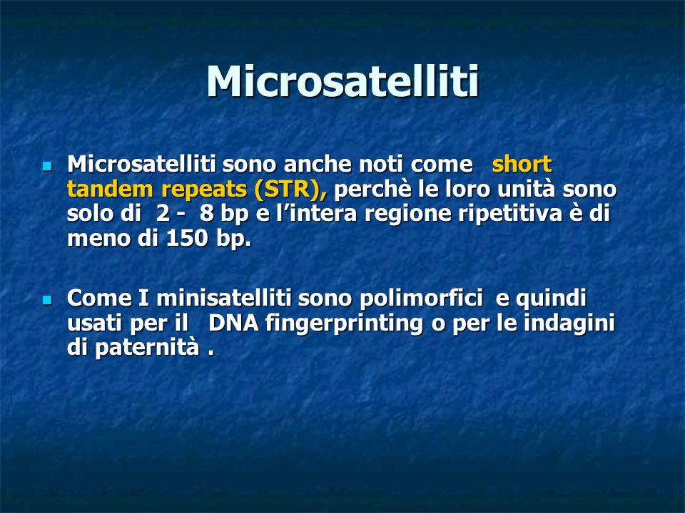 Microsatelliti