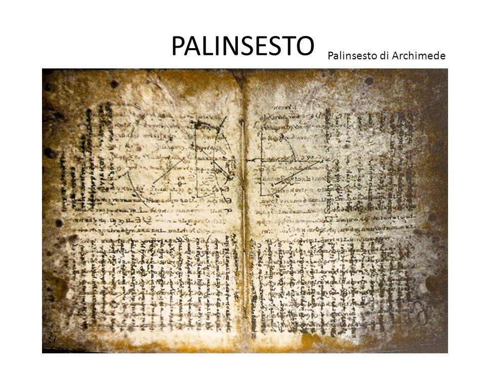 PALINSESTO Palinsesto di Archimede