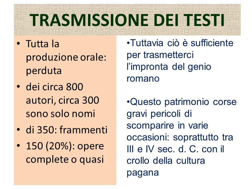 TRASMISSIONE DEI TESTI