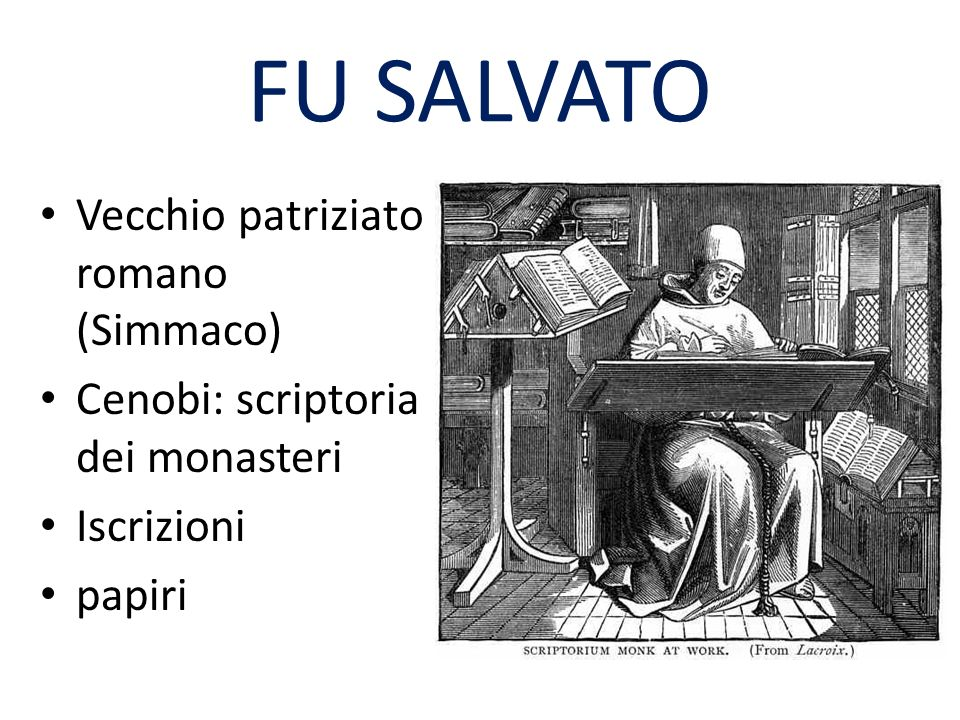 FU SALVATO Vecchio patriziato romano (Simmaco)