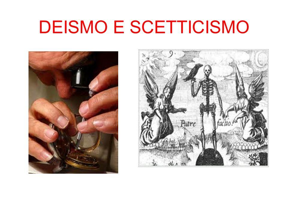 DEISMO E SCETTICISMO
