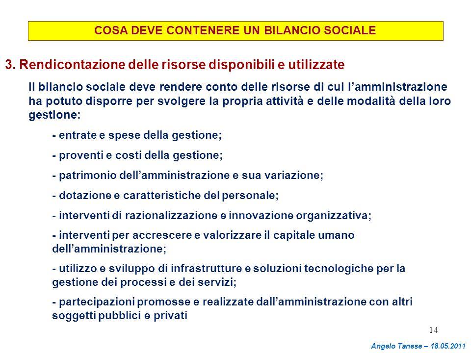 COSA DEVE CONTENERE UN BILANCIO SOCIALE