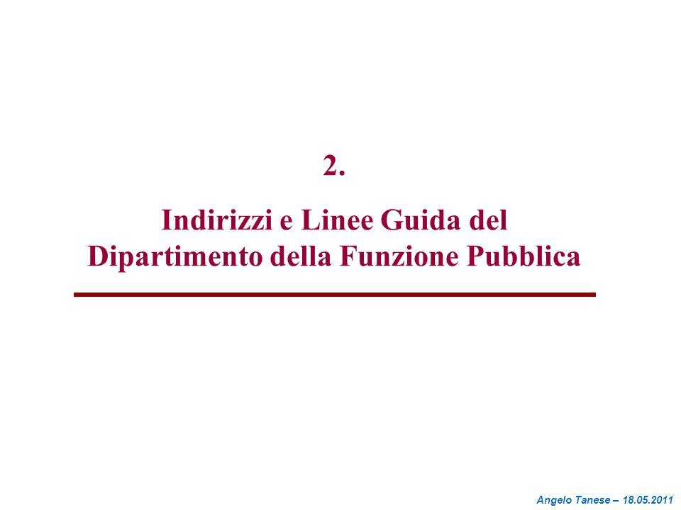 Indirizzi e Linee Guida del Dipartimento della Funzione Pubblica