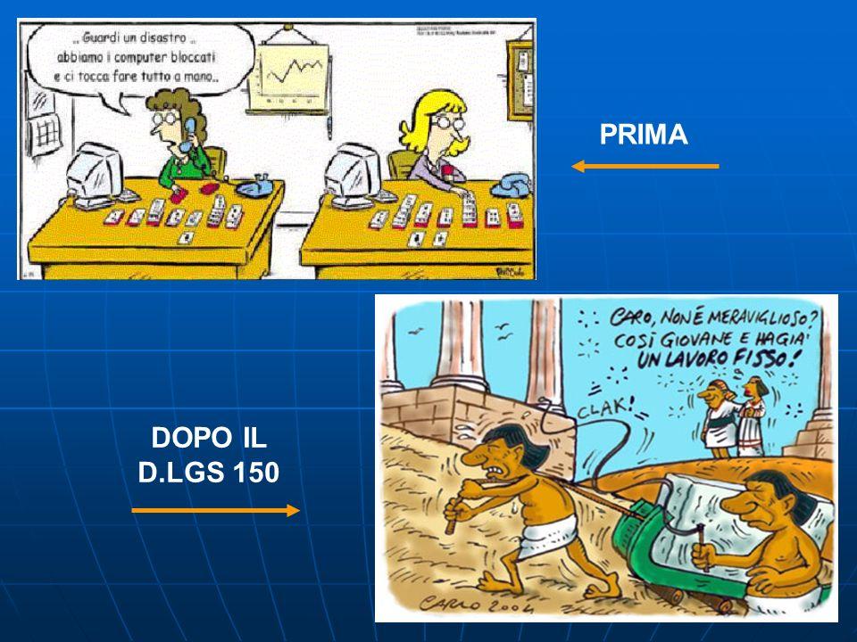 PRIMA DOPO IL D.LGS 150