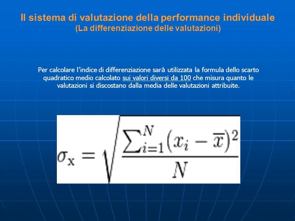 Il sistema di valutazione della performance individuale (La differenziazione delle valutazioni)