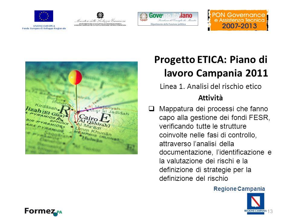 Progetto ETICA: Piano di lavoro Campania 2011