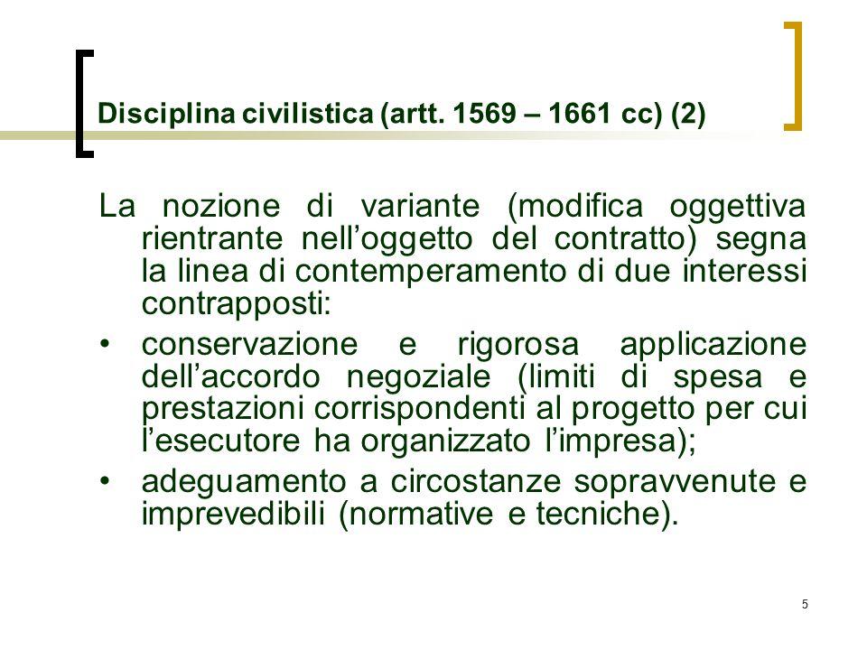Disciplina civilistica (artt. 1569 – 1661 cc) (2)