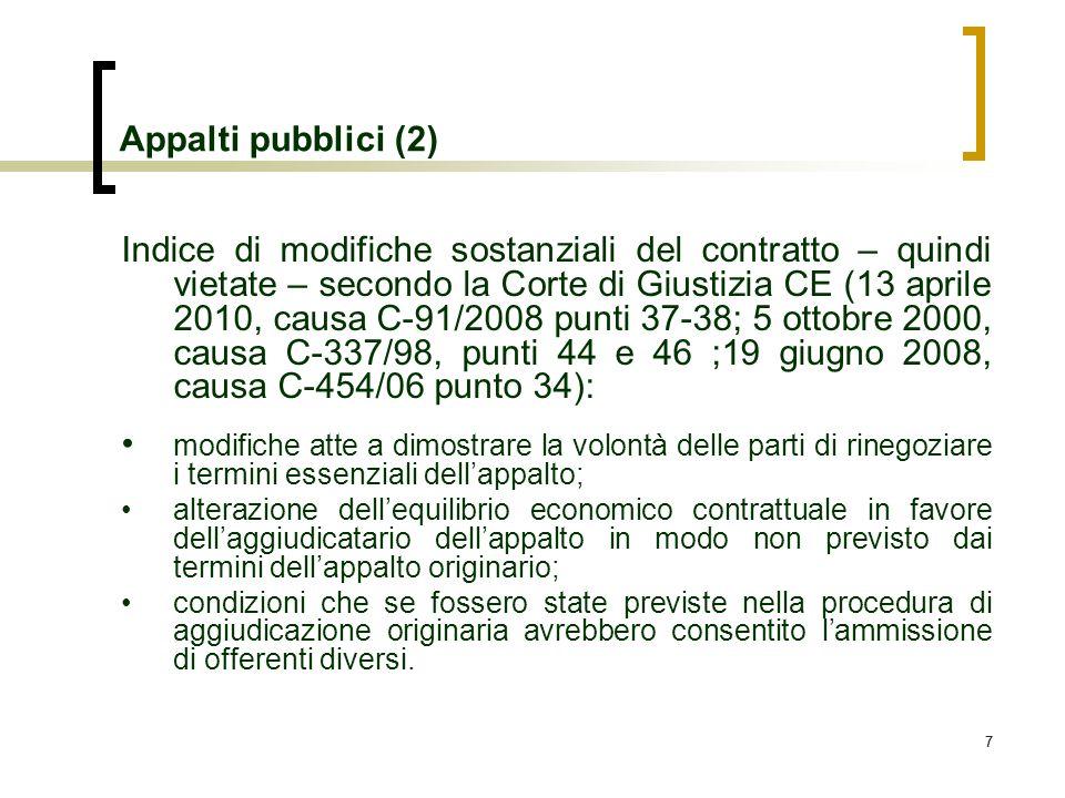 Appalti pubblici (2)
