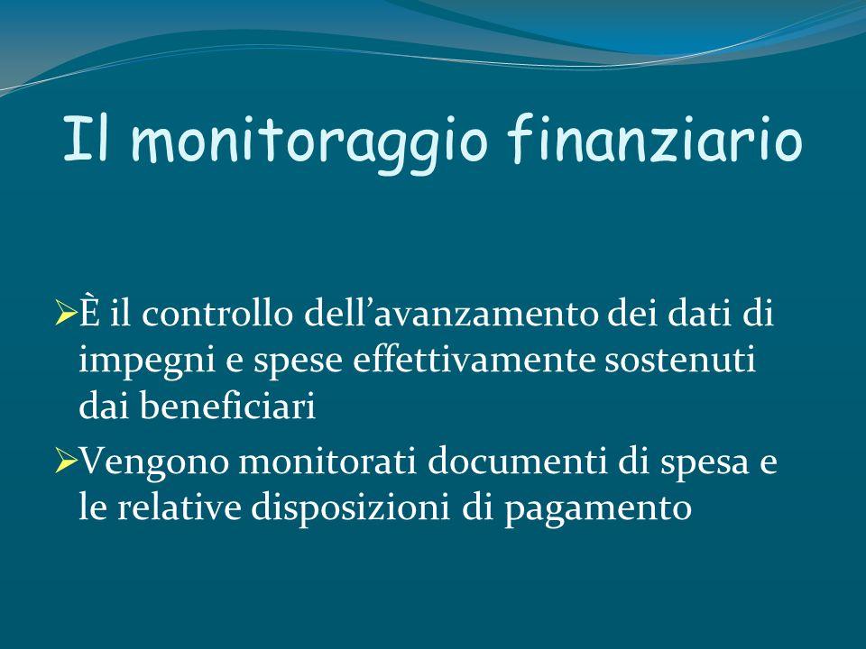 Il monitoraggio finanziario