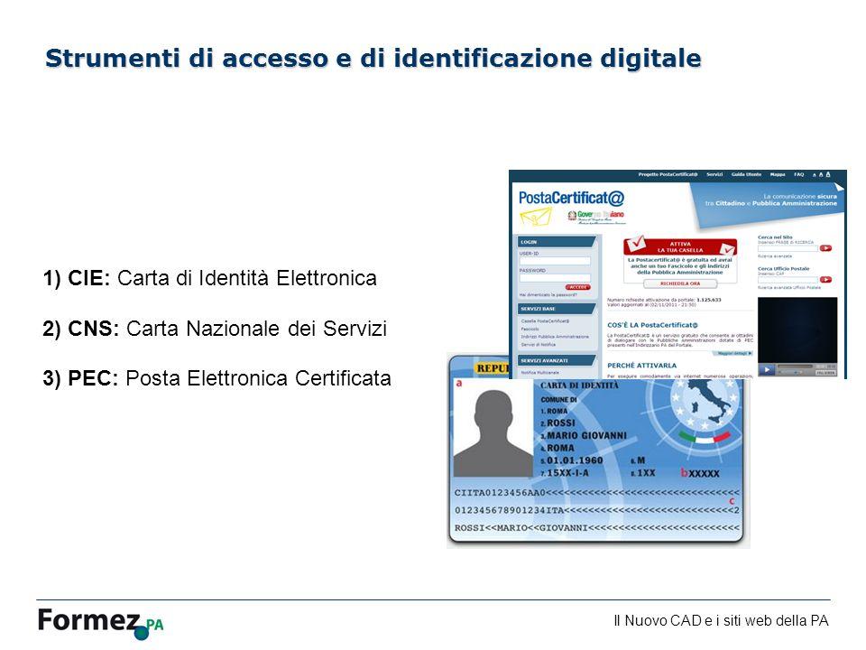 Strumenti di accesso e di identificazione digitale