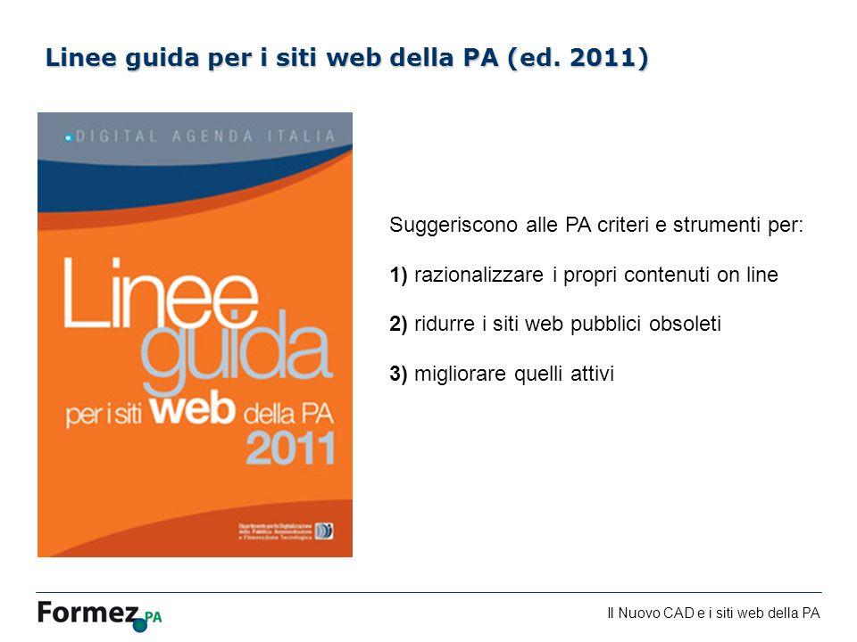 Linee guida per i siti web della PA (ed. 2011)