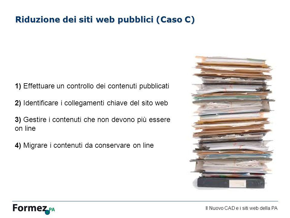 Riduzione dei siti web pubblici (Caso C)