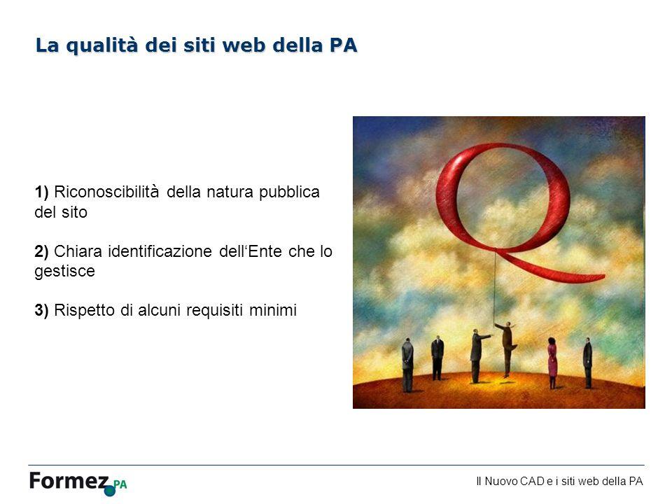 La qualità dei siti web della PA