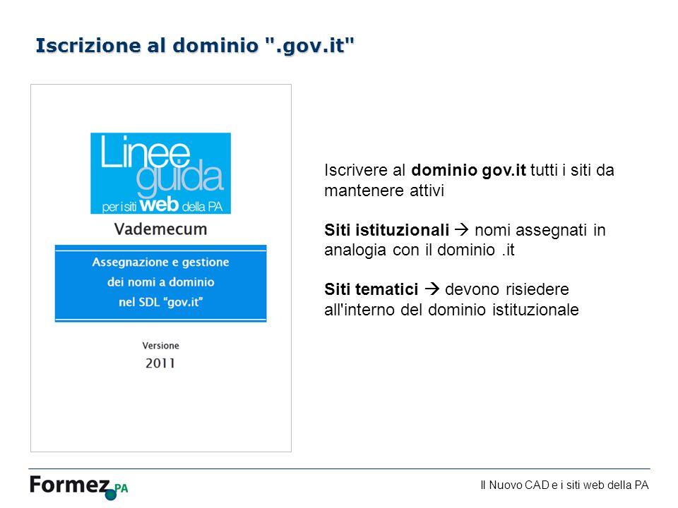 Iscrizione al dominio .gov.it