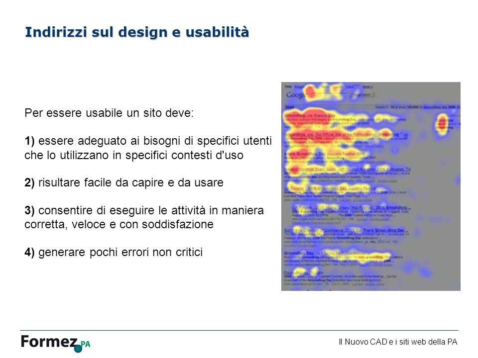 Indirizzi sul design e usabilità