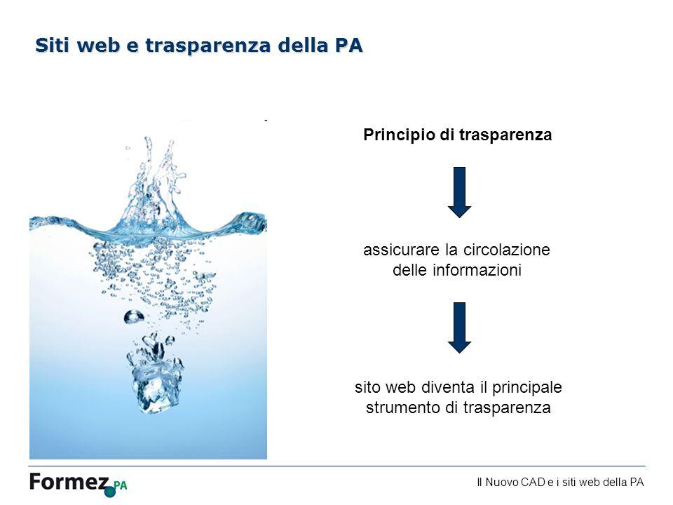 Siti web e trasparenza della PA