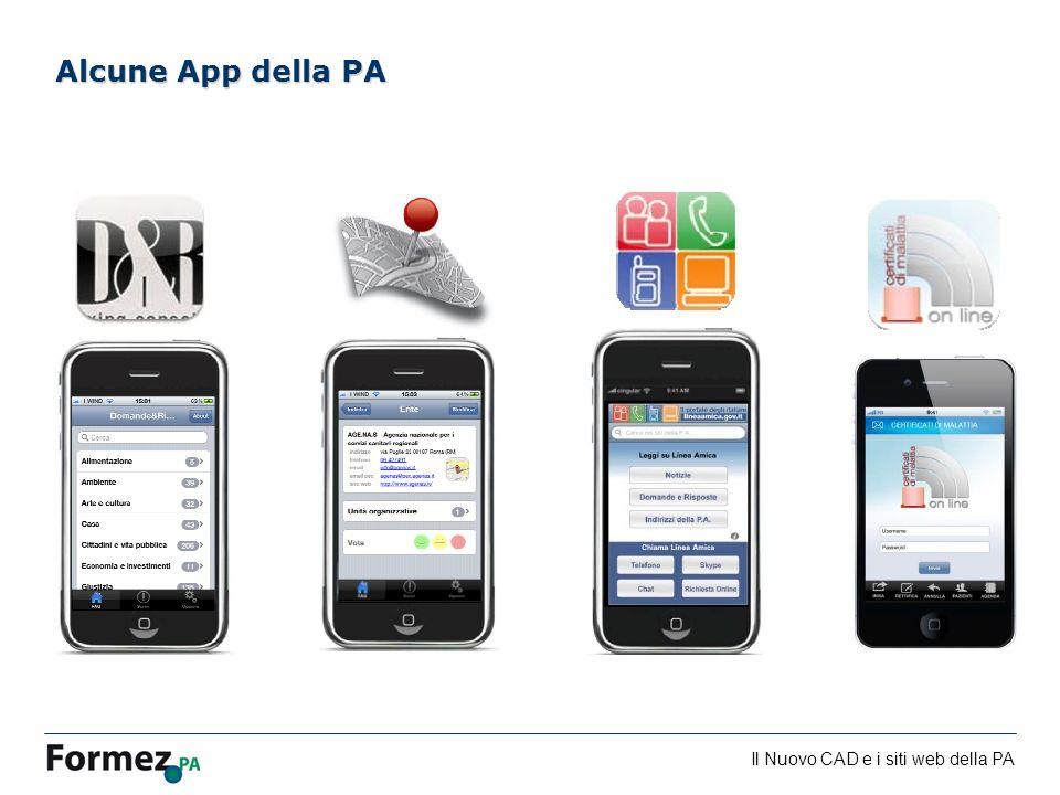 Alcune App della PA