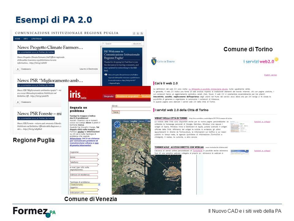 Esempi di PA 2.0 Comune di Torino Regione Puglia Comune di Venezia 51