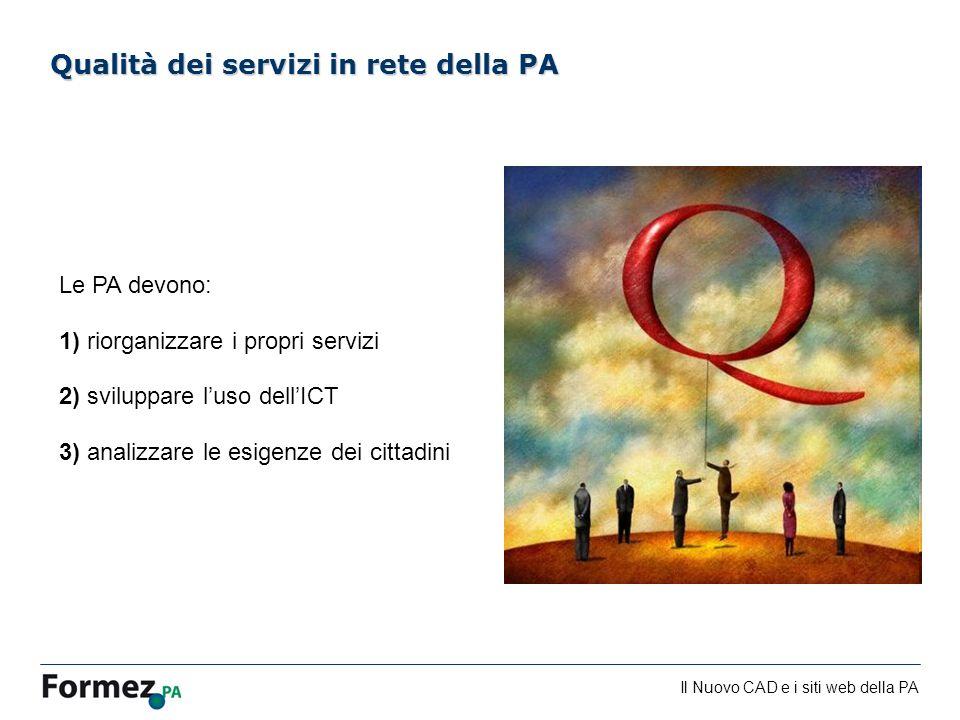 Qualità dei servizi in rete della PA
