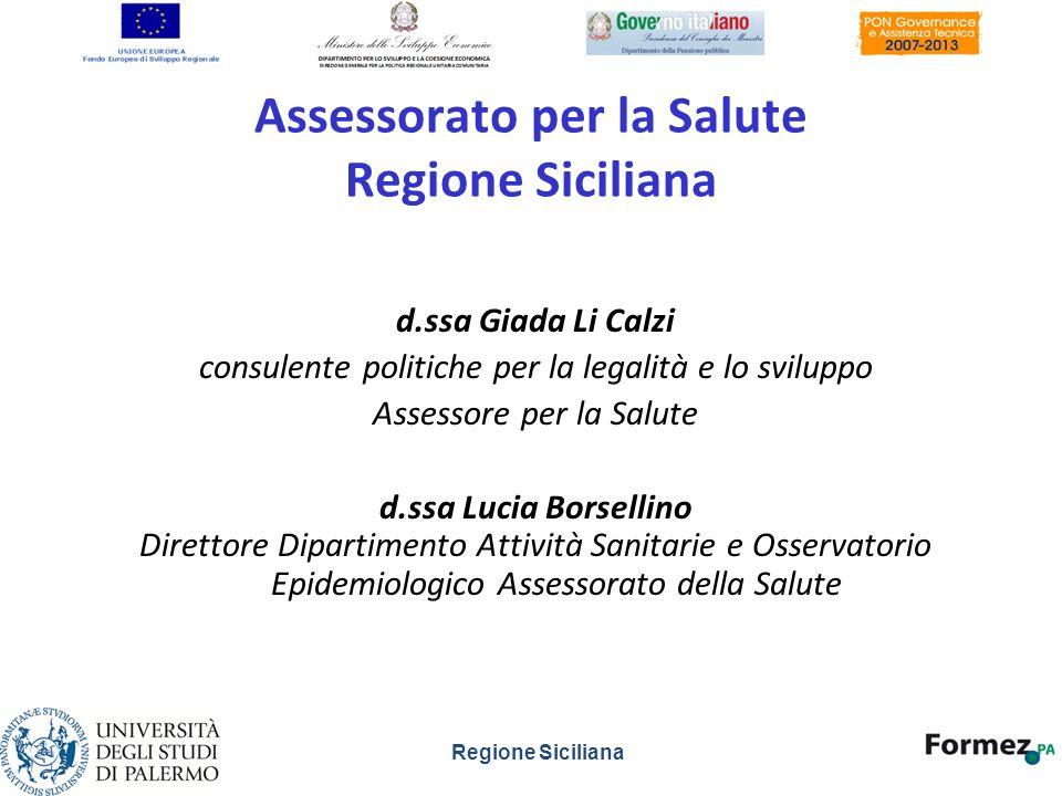 Assessorato per la Salute Regione Siciliana