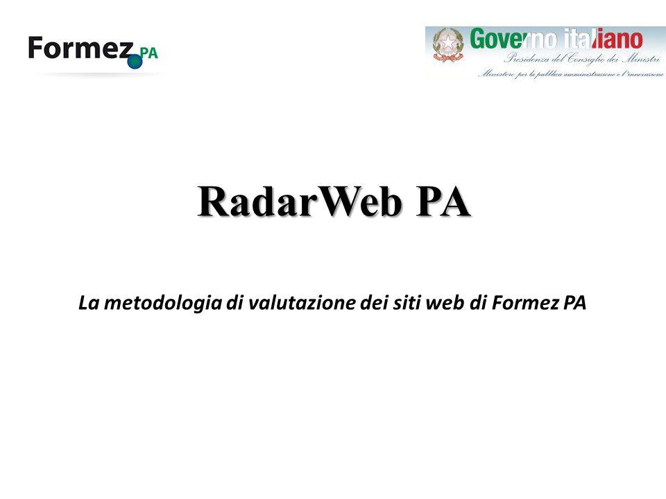 La metodologia di valutazione dei siti web di Formez PA