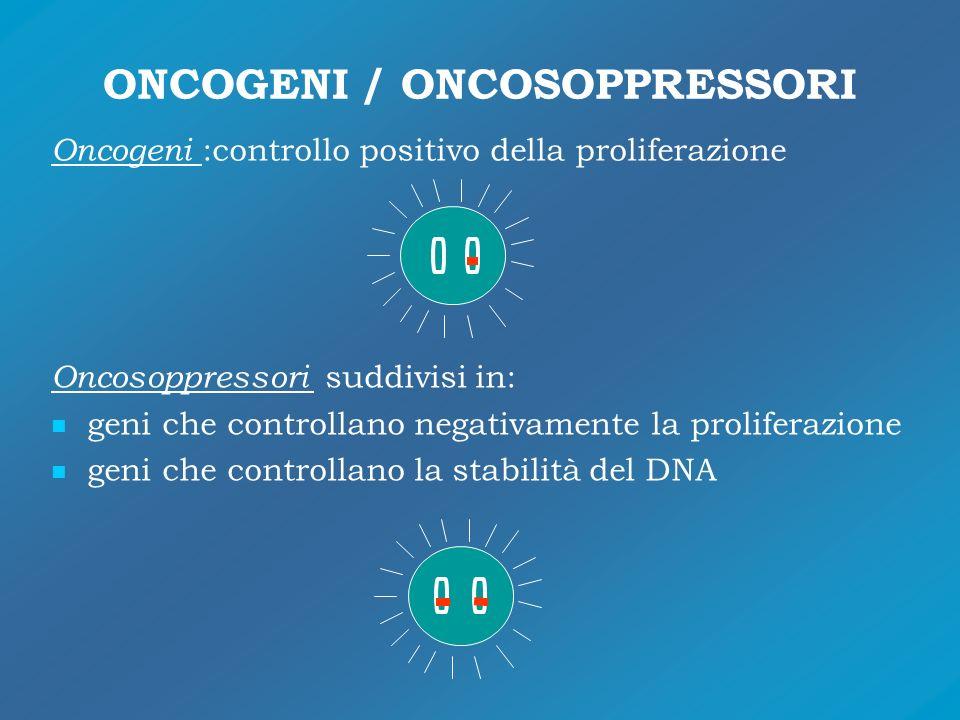 ONCOGENI / ONCOSOPPRESSORI