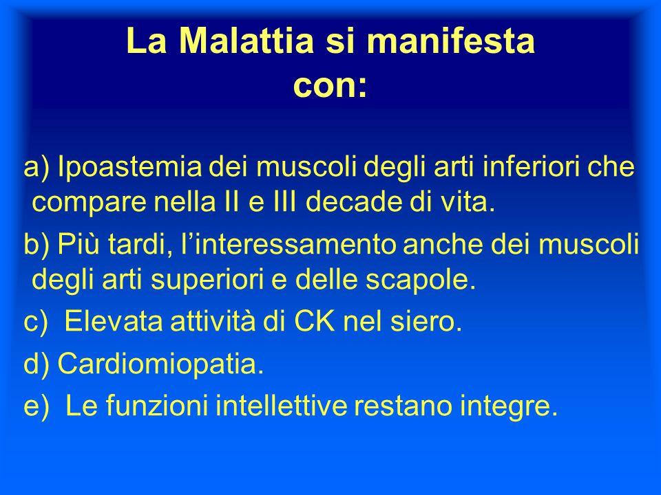 La Malattia si manifesta con: