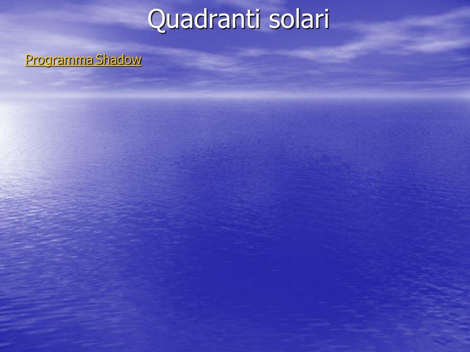 Quadranti solari Programma Shadow