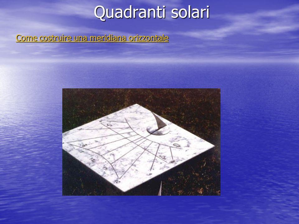 Come costruire una meridiana orizzontale