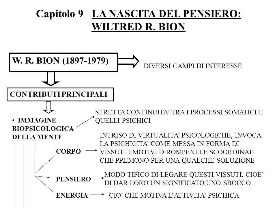 Capitolo 9 LA NASCITA DEL PENSIERO: WILTRED R. BION