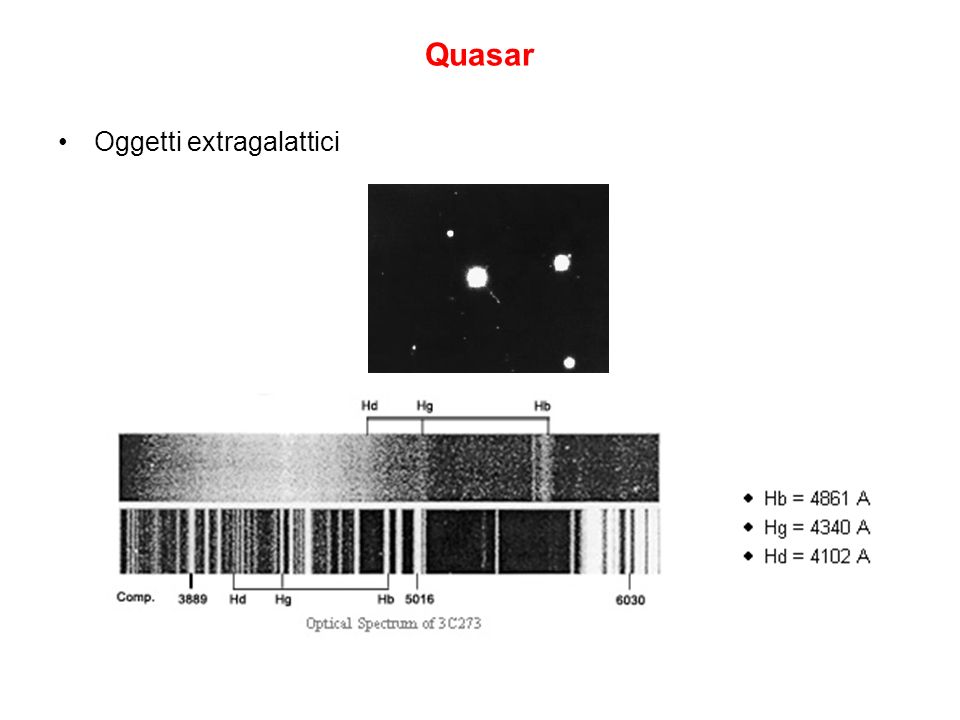 Quasar Oggetti extragalattici