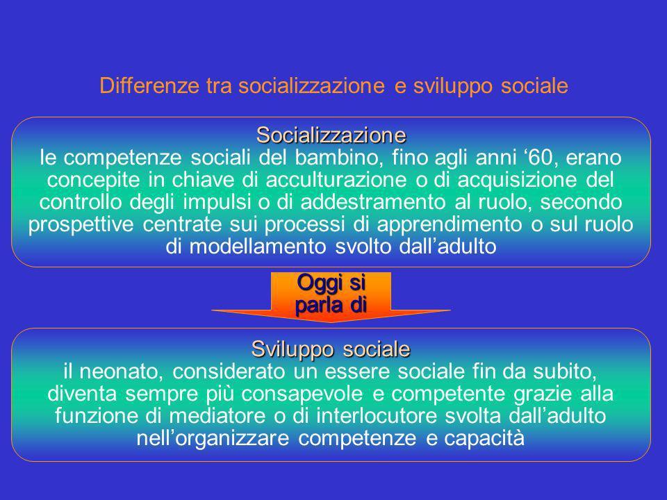 Differenze tra socializzazione e sviluppo sociale