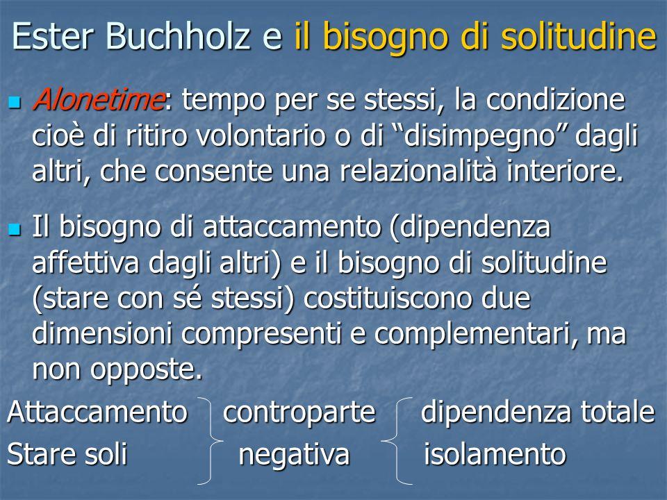 Ester Buchholz e il bisogno di solitudine