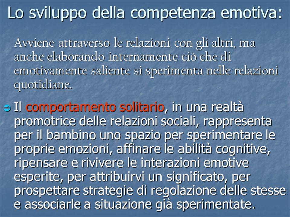 Lo sviluppo della competenza emotiva: