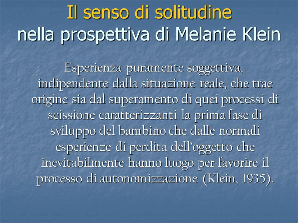 Il senso di solitudine nella prospettiva di Melanie Klein