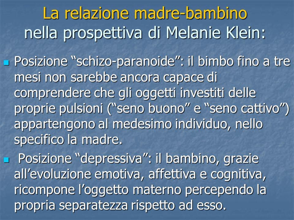 La relazione madre-bambino nella prospettiva di Melanie Klein: