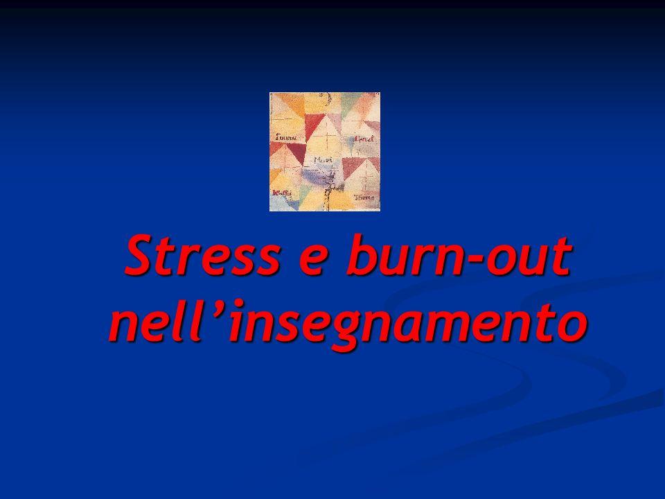 Stress e burn-out nell'insegnamento