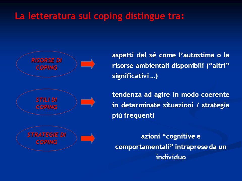azioni cognitive e comportamentali intraprese da un individuo