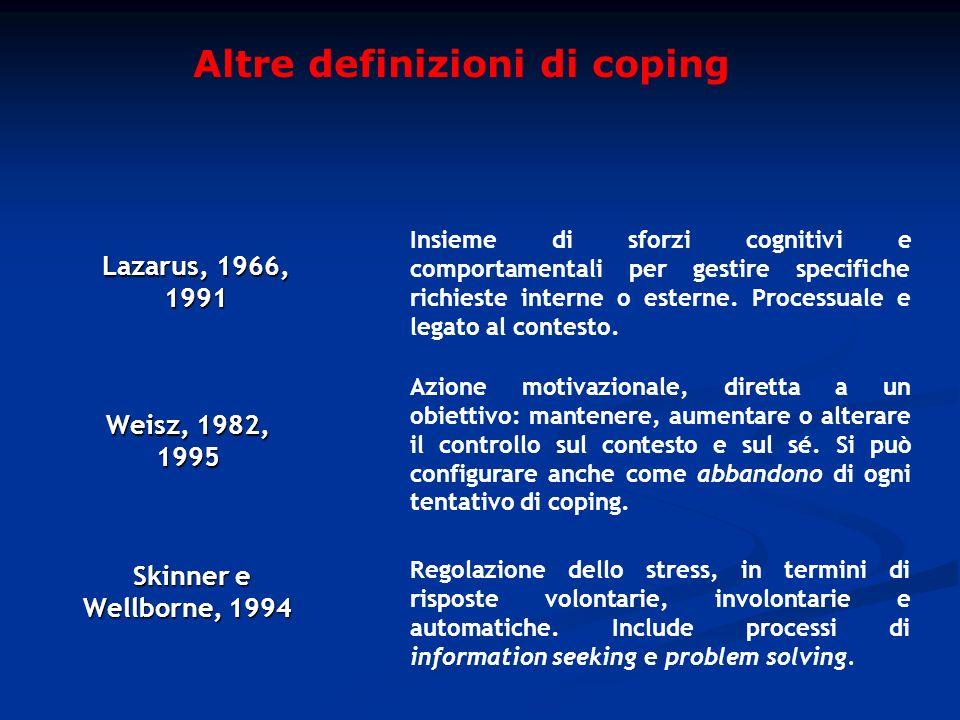 Altre definizioni di coping
