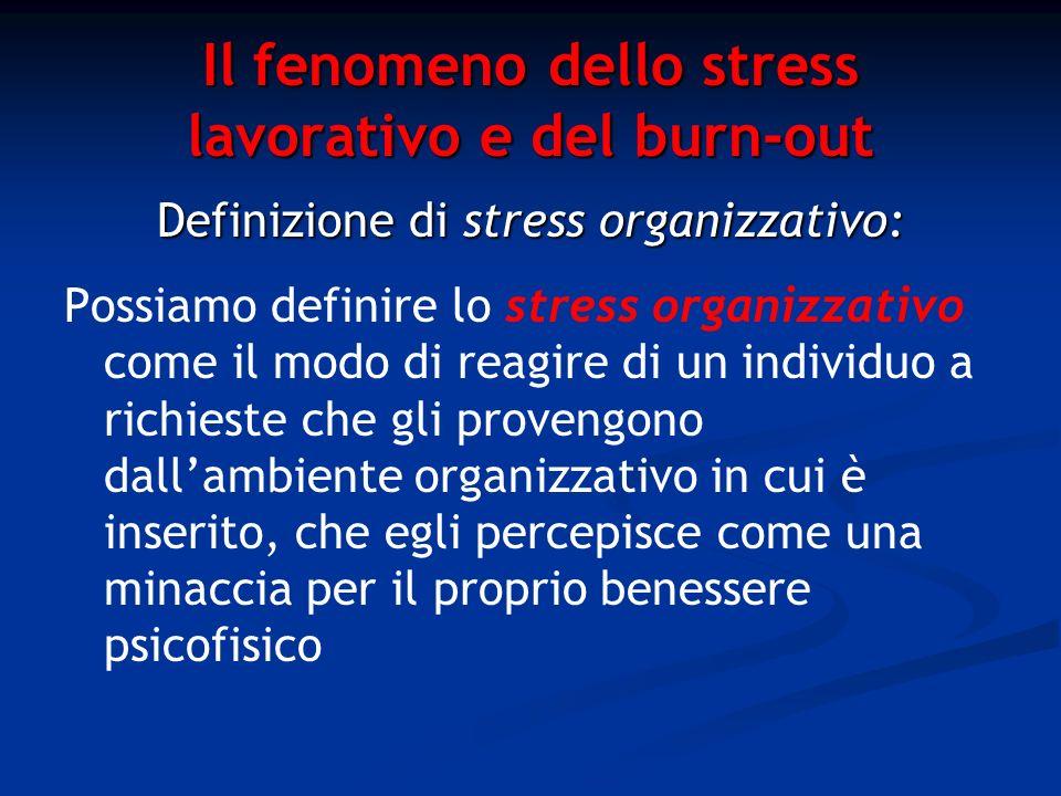 Il fenomeno dello stress lavorativo e del burn-out