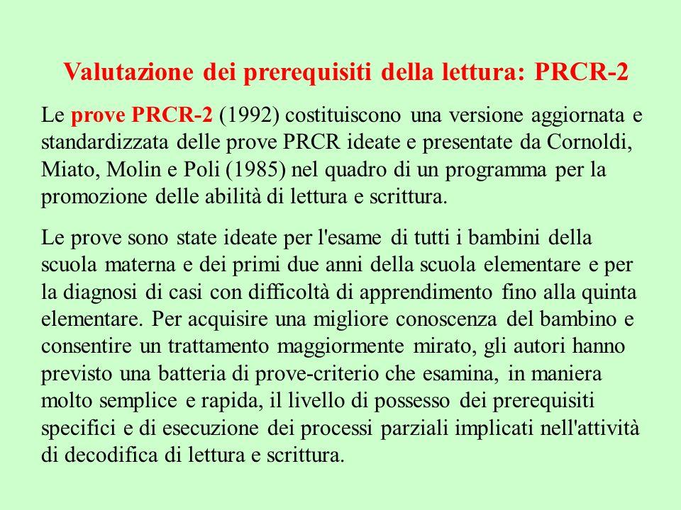 Valutazione dei prerequisiti della lettura: PRCR-2